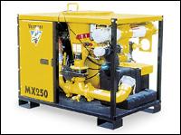 Vermeer MX250 mud-mixing system