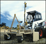 ATI Level Best laser grading box on a Bobcat skid-steer loader