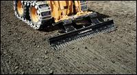 Loegering Eliminator skid-steer grading rake attachment