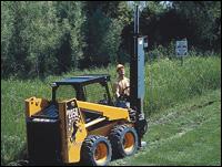 CE Attachments Edge Post Driver attachment