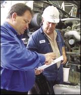 Scott Holland and mechanic Buz Shaw