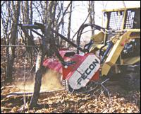 Fecon Bull Hog wood shredder attachment