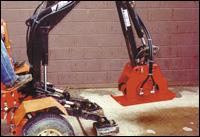 Hudco HC10 vibratory plate compactor attachment