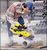 Circular cut-off saw.