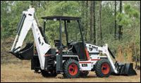 Bobcat backhoe loader