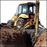New Holland Construction LB115 backhoe loader