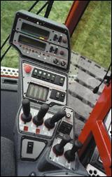 Controls on the 1015 crane