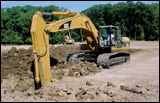 Caterpillar 330C excavator trenching