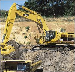 Caterpillar 385B crawler excavator