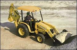 John Deere 110 backhoe-loader