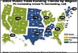 2002 Public Fleet Funding trends by Region