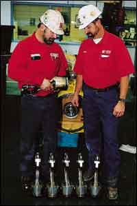 Fallert and mechanic, Bob Lurk