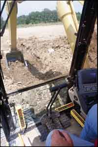 GPS systems for hydraulic excavators.