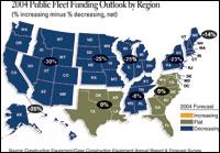 2004 Public Fleet Funding Outlook by Region