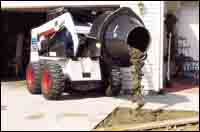 Bobcat's concrete mixer