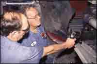 Technician Bob Mckee