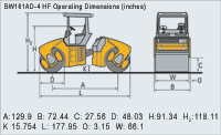BW161AD-4 HF Operating Dimensions (inches)