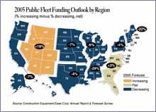 2005 Public Fleet funding Outlook by Region