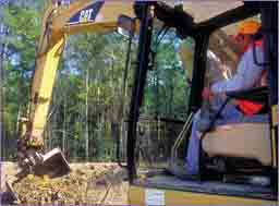 Hydraulic Excavator with SiteVision GPS