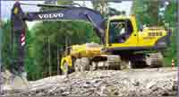 Volvo B-Series excavators