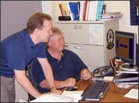 Software engineer Bryan Hassler (left).