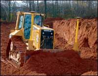 RC Excavating dozer.