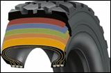 Bias tire cut away