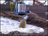 Pumps remove floodwater from hurricane