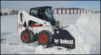 Bobcat snow-pusher attachment