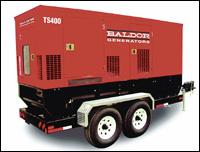 Baldor TS400 mobile generator