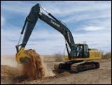Deere's 350D excavator digging