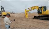 350D LC excavator at work