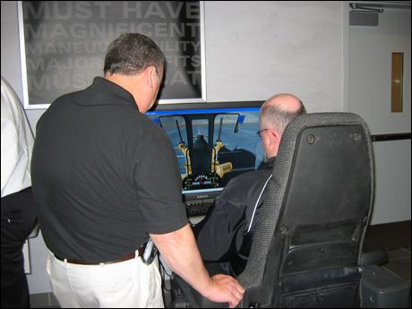 Motor-grader simulator