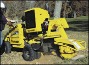 Vermeer SC352 stump cutter