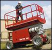MEC rough terrain scissor lift