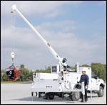 Iowa Mold Tooling electric telescopic crane