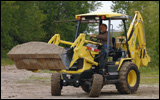 Yanmar CBL40 backhoe in load-and-carry test