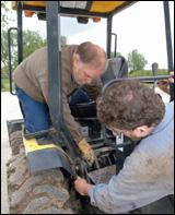 Removal of CBL40 backhoe