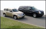 GMC's Yukon XL (right) and Chevy HHR (left)
