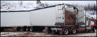 Titan Walk-Through B-Train Aluminum Live-Floor trailer