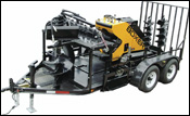 Compact Power's trailers for mini-skid loaders