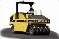 Caterpillar pneumatic tire roller