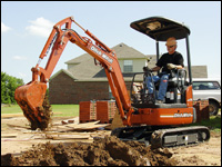 Ditch Witch MX182 compact excavator