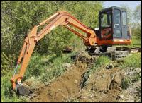 Thomas 75 compact excavator