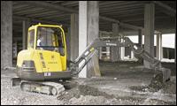 Volvo compact excavator