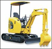 Komatsu compact excavator
