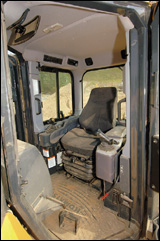 Komatsu Palm Command Control System for steering and blade control