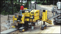 GOMACO Commander III curb-and-gutter paver