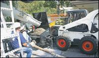 Bobcat concrete pump attachment