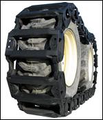 Grouser over-the-tire tracks
